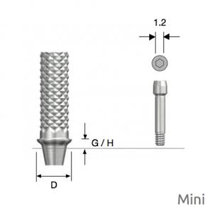 Temporäres Abutment Mini D4.0 x G/H3.0 Non-Hex