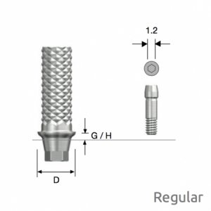 Temporäres Abutment Regular D4.5 x G/H1.0 Hex