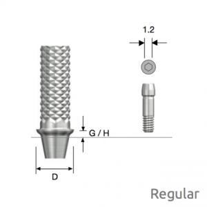 Temporäres Abutment Regular D4.5 x G/H3.0 Non-Hex