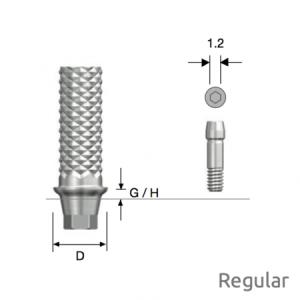 Temporäres Abutment Regular D4.5 x G/H3.0 Hex