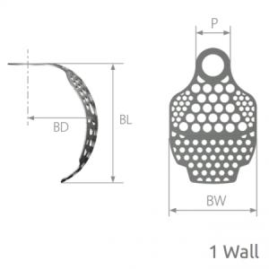SmartBuilder 1 Wall Titanium Membrane P=4 x BW=10 x BL=7