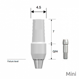 Temporäres PEEK Abutment Mini D4.5 x G/H5.0 Non-Hex